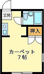 K.HOUSE[1F号室]の間取り