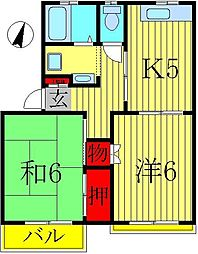 エクセル小林II[1-C号室]の間取り