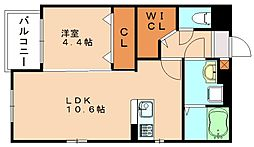 プレステージ篠栗[1階]の間取り