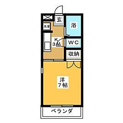 グレードハイツ西多賀[4階]の間取り