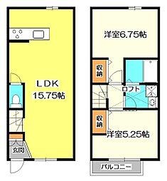 [テラスハウス] 東京都小金井市本町2丁目 の賃貸【/】の間取り