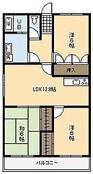 レジデンス17番館[6階]の間取り