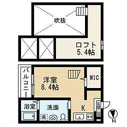 セレーネ豊田本町[103号室]の間取り