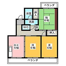 ファミーユ.A[2階]の間取り