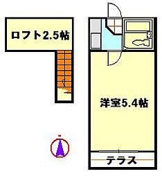 クロノス竹ノ塚[2階]の間取り