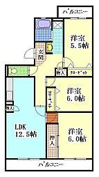 マンション東亜[2階]の間取り
