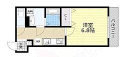 JR東海道・山陽本線 塚本駅 徒歩6分の賃貸アパート 1階1Kの間取り