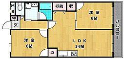 レオハイム長尾III[3階]の間取り