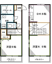 JR中央本線 荻窪駅 徒歩5分の賃貸アパート 2階1LDKの間取り