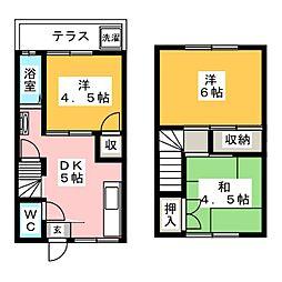 [テラスハウス] 愛知県名古屋市天白区池場3丁目 の賃貸【愛知県 / 名古屋市天白区】の間取り