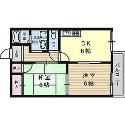 ハイツアシーネ[2階]の間取り