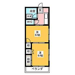 本町マンション[1階]の間取り