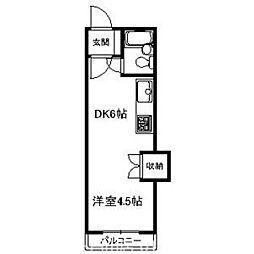第27松井ビル[6階]の間取り