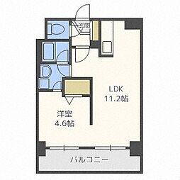 KW PLACE南6条[403号室]の間取り