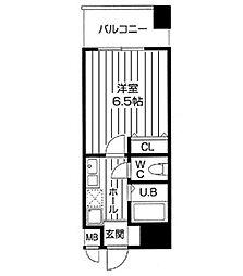 アブレスト桜川[0505号室]の間取り