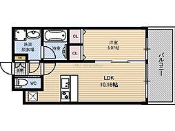 Osaka Metro長堀鶴見緑地線 蒲生四丁目駅 徒歩3分の賃貸マンション 7階1LDKの間取り