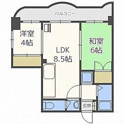 スペース南4条[2階]の間取り