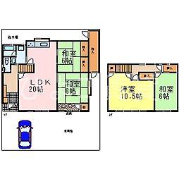 [一戸建] 愛知県名古屋市千種区希望ケ丘1丁目 の賃貸【/】の間取り
