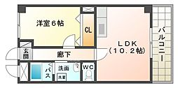大阪府大阪市平野区長吉六反5丁目の賃貸マンションの間取り