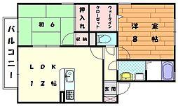 セジュールパークタウン[2階]の間取り