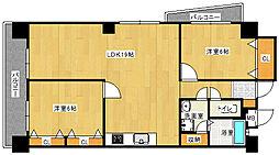 サザンコート中央[2階]の間取り