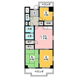 第2奥村マンション[1階]の間取り