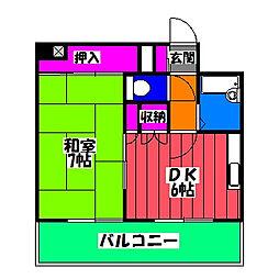 エターナルTANAKA[11階]の間取り