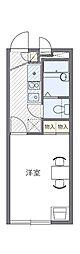 JR青梅線 東青梅駅 徒歩10分の賃貸アパート 1階1Kの間取り