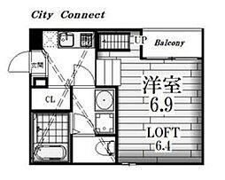 Globe amaranth庄内通[2階]の間取り
