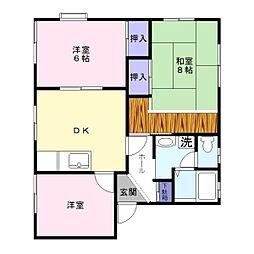 メゾンサンロード[2階]の間取り