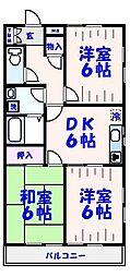 KZ本八幡ステートメント[306号室]の間取り
