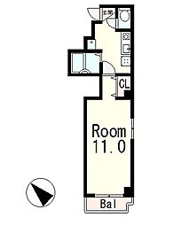 レイク中央2[4階]の間取り
