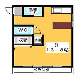 丹羽アパート北棟[2階]の間取り