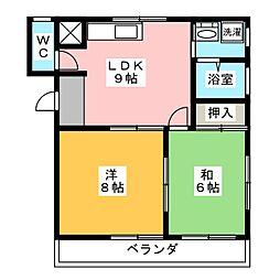 メゾンフォルテ[2階]の間取り