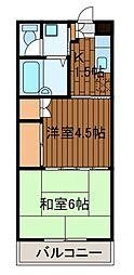 FMコーポ[1階]の間取り