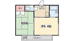 コーポイチムラ[201号室]の間取り