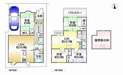 北大阪急行電鉄 千里中央駅 バス20分 新家下車 徒歩3分 4LDKの間取り
