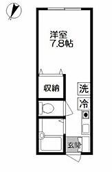 サンシャインパートII[1階]の間取り