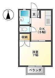 エル美B[2階]の間取り