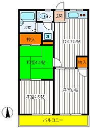 東京都立川市幸町4丁目の賃貸アパートの間取り