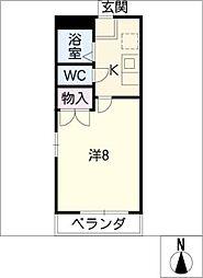 サンシティ鈴和II[1階]の間取り