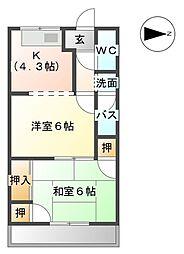森ハイツV VI[1階]の間取り