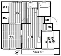 神奈川県川崎市宮前区白幡台2丁目の賃貸マンションの間取り