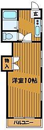 東京都小平市上水南町2丁目の賃貸アパートの間取り