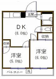 ダイエーマンション[4階]の間取り