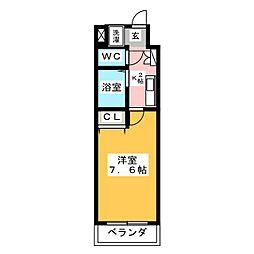 びいII植田[1階]の間取り