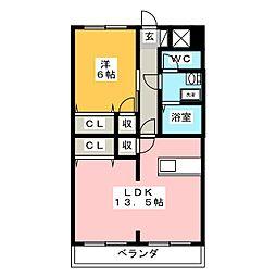エトワールガレ[2階]の間取り