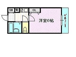 エムロード蒲生[4階]の間取り