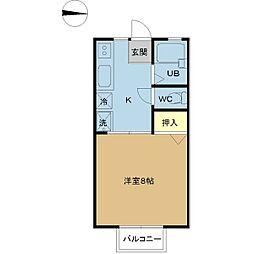 パナハイツ くすの木 A棟[105号室]の間取り