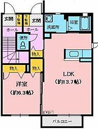 メゾン ソレイユ2[101号室]の間取り